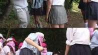 Someone's in trouble… Who said Japanese schoolgirls were quiet?