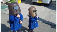 This is how the kids viewed the the solar eclipse in Japan this past May …www