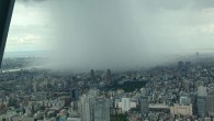 Just a quick picture of what rain looks like…from the top of the Tokyo Sky Tree.